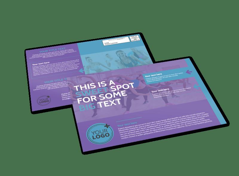 Aerobics Class EDDM Postcard Template Preview 1