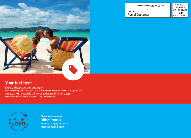 Awesome Travel Agents EDDM Postcard Template Preview 3