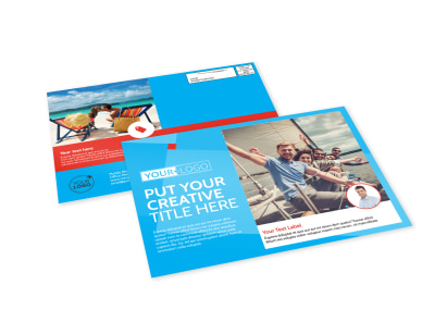 Awesome Travel Agents EDDM Postcard Template preview