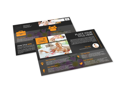 Creative Beauty Spa EDDM Postcard Template preview