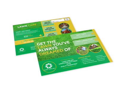 Lawn Care EDDM Postcard Template preview