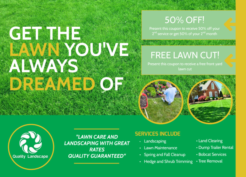 Lawn Care EDDM Postcard Template Preview 2