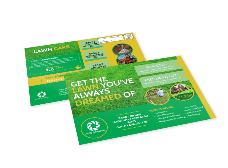Lawn Care EDDM Postcard Template Preview 1