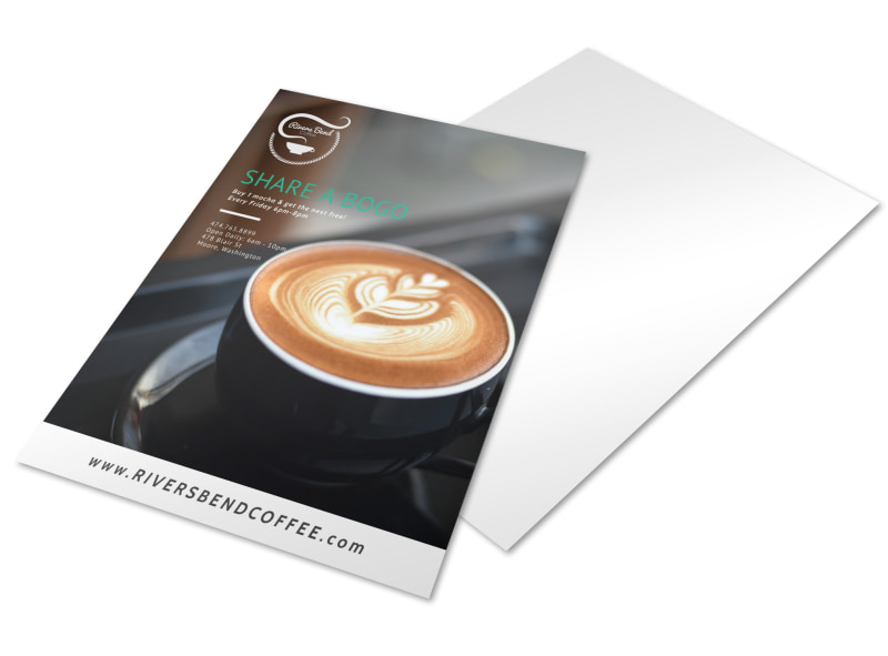 Share A Bogo Coffee Shop Marketing Flyer Template | Mycreativeshop