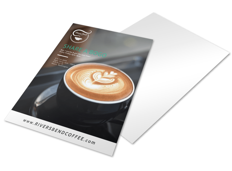 Share A BOGO Coffee Shop Marketing Flyer Template Preview 1