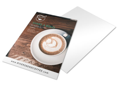 Share A BOGO Coffee Shop Marketing Flyer Template preview