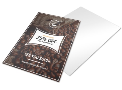 25% OFF Coffee Shop Marketing Flyer Template