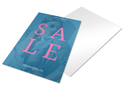Storewide Sale Business Promotional Flyer Template preview