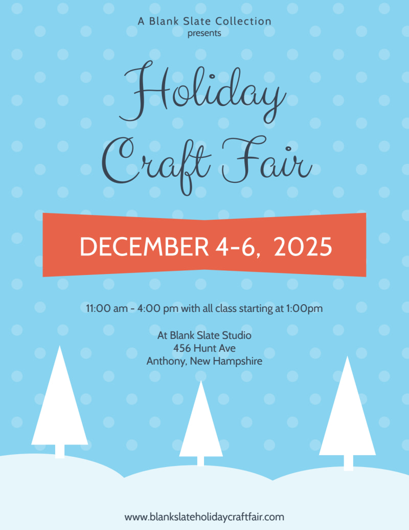 Craft Fair Holiday Marketing Flyer Template Preview 2