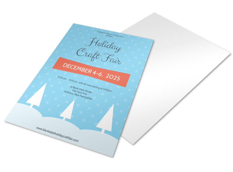 Craft Fair Holiday Marketing Flyer Template Preview 1