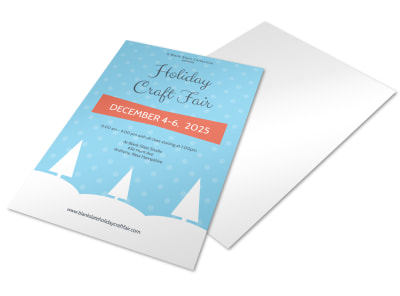 Craft Fair Holiday Marketing Flyer Template preview