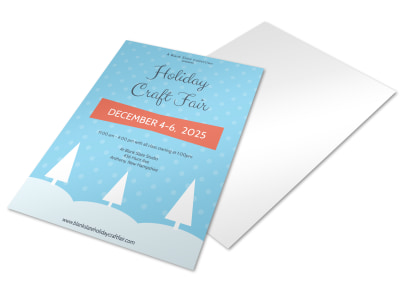 Craft Fair Holiday Marketing Flyer Template