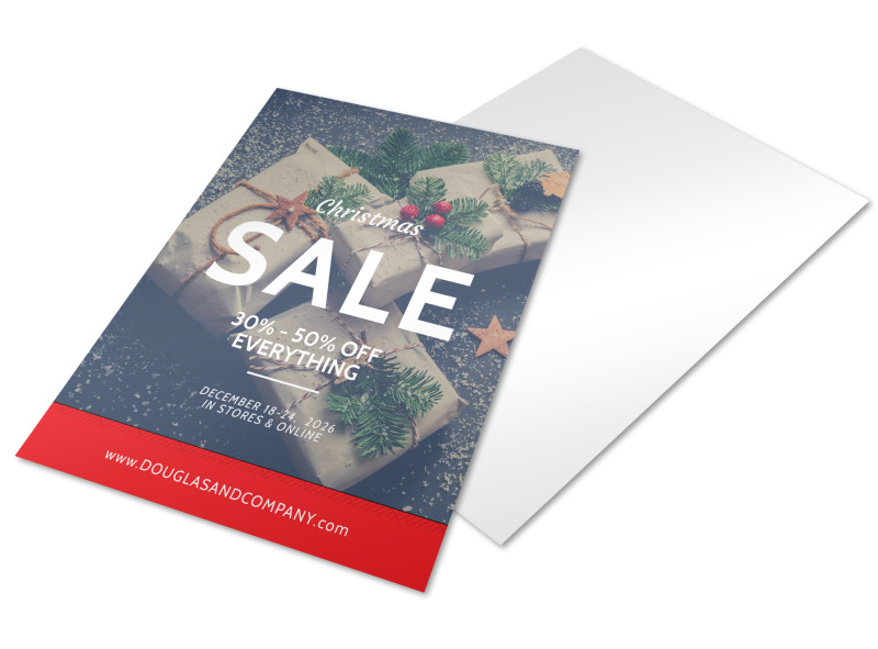 Christmas Sale Holiday Marketing Flyer Template