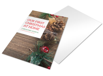 Christmas Musical Holiday Marketing Flyer Template preview