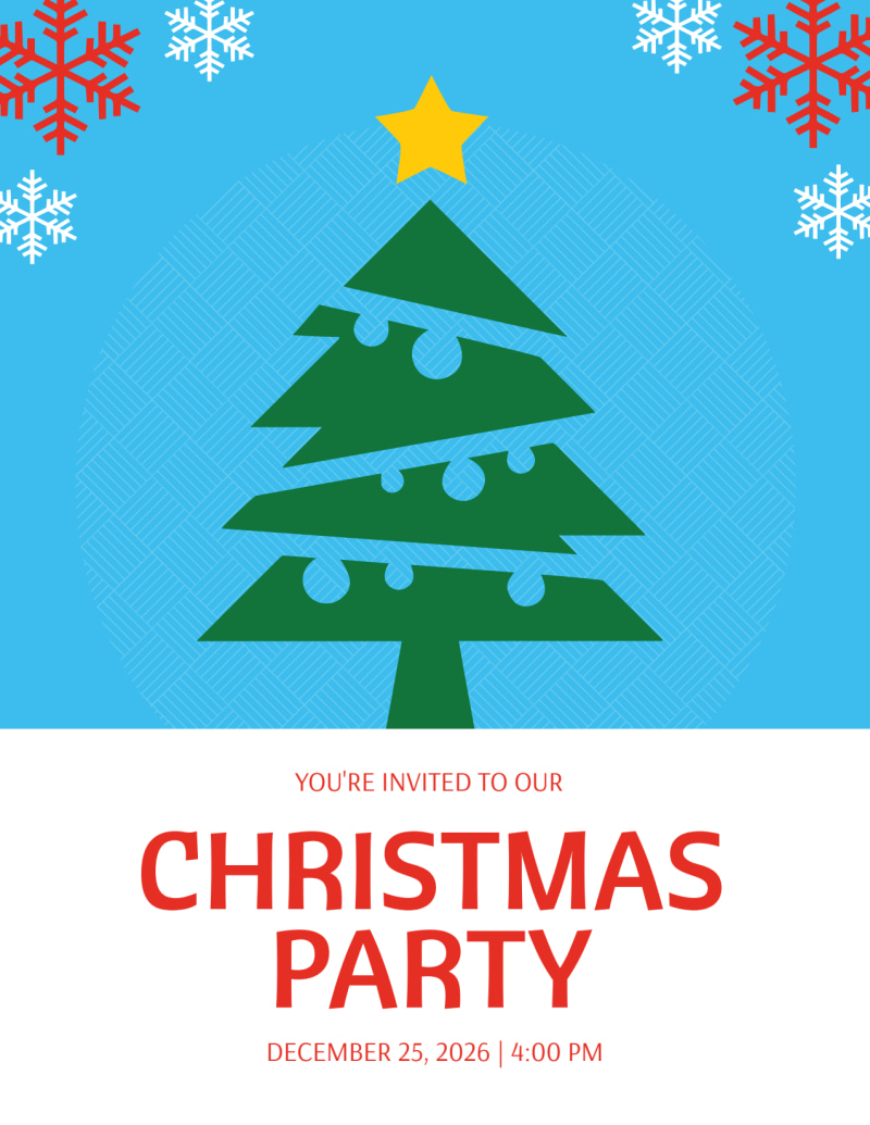 Christmas Party Holiday Marketing Flyer Template Preview 2