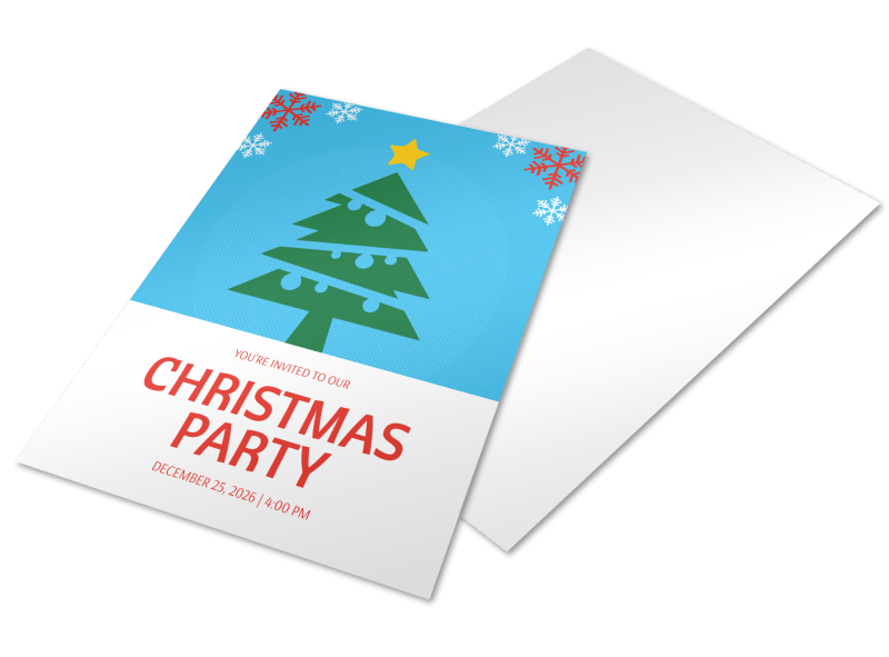 Christmas Party Holiday Marketing Flyer Template Preview 1