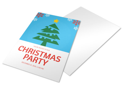 Christmas Party Holiday Marketing Flyer Template preview