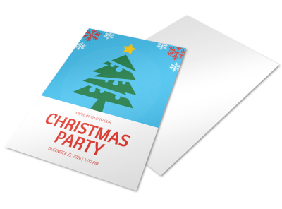 Christmas Party Holiday Marketing Flyer Template