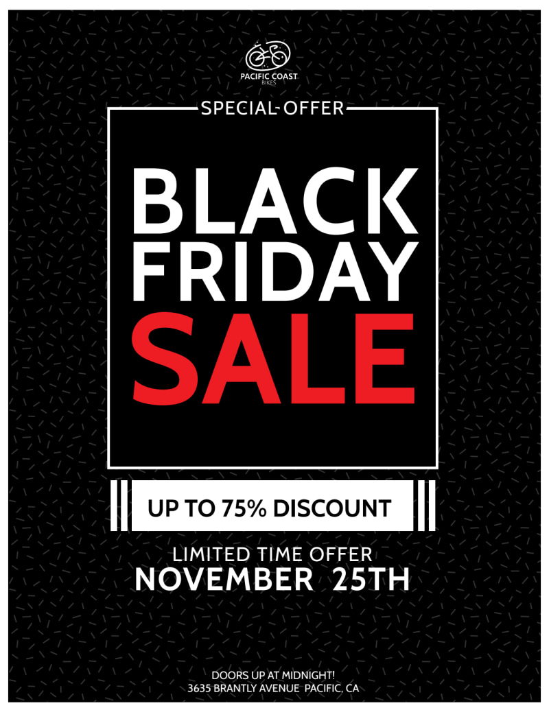 Black Friday Holiday Marketing Flyer Template Preview 2