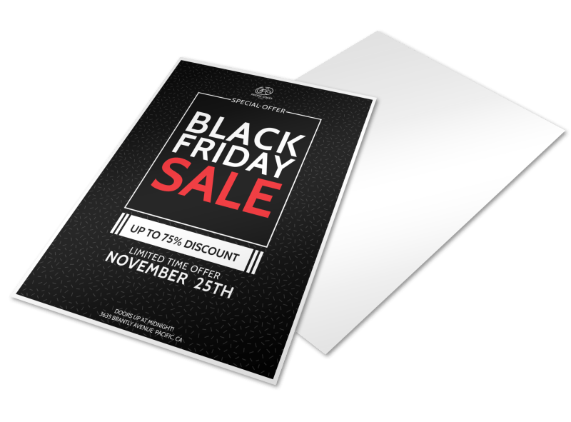 Black Friday Holiday Marketing Flyer Template Preview 1
