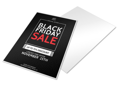 Black Friday Holiday Marketing Flyer Template preview