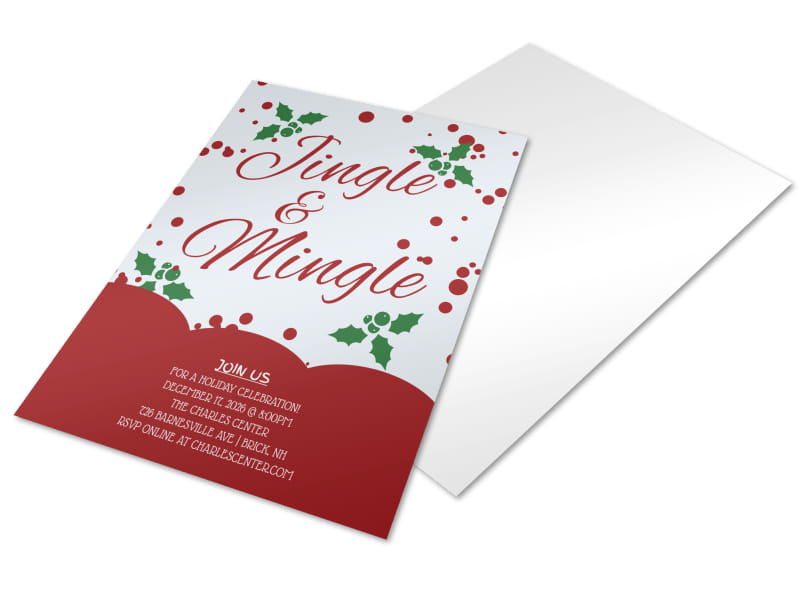 Jingle & Mingle Christmas Party Flyer Template Preview 4