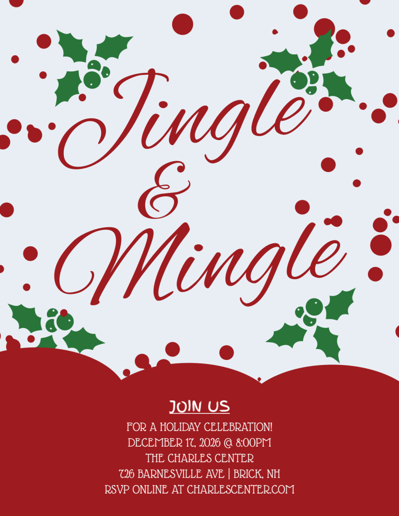 Jingle & Mingle Christmas Party Flyer Template Preview 2