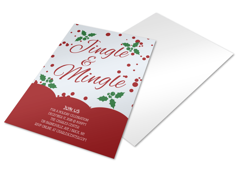 Jingle & Mingle Christmas Party Flyer Template Preview 1