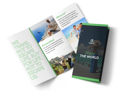 Travel The World Tri-Fold Brochure Template preview