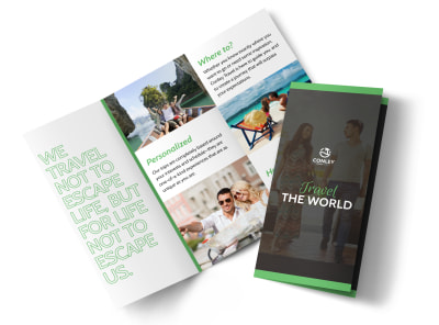 travel the world tri fold brochure template