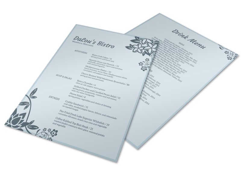 DaLou's Bistro Menu Flyer Template