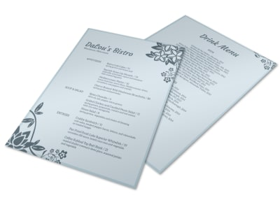 DaLou's Bistro Menu Flyer Template preview