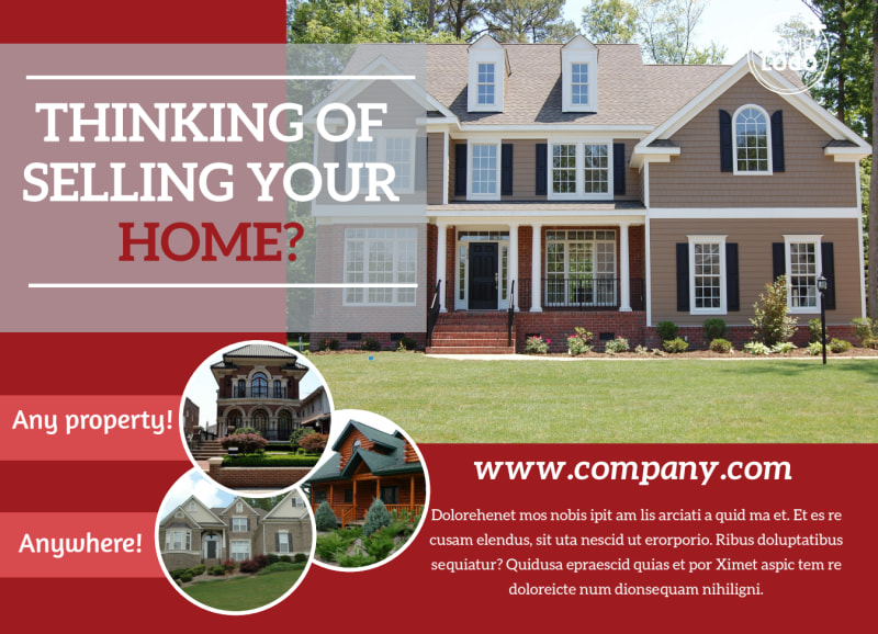 Real Estate Thinking Of Selling EDDM Postcard Template Preview 2