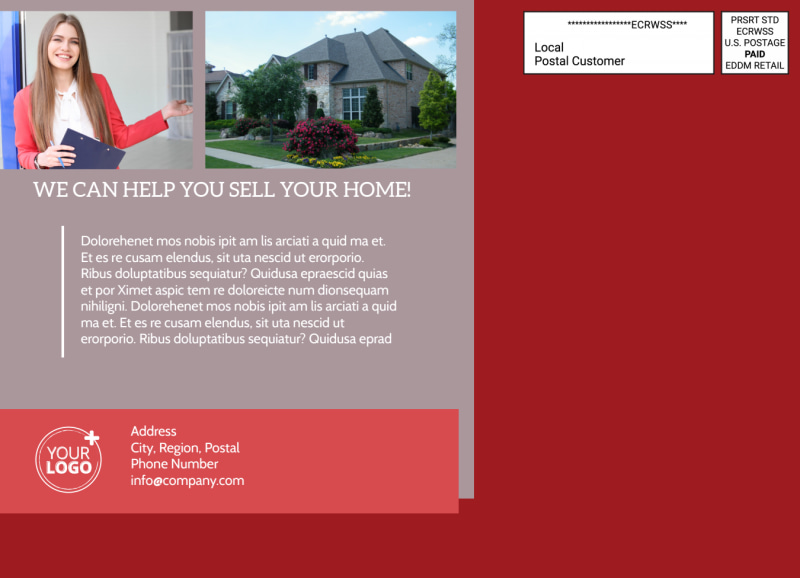 Real Estate Thinking Of Selling EDDM Postcard Template Preview 3