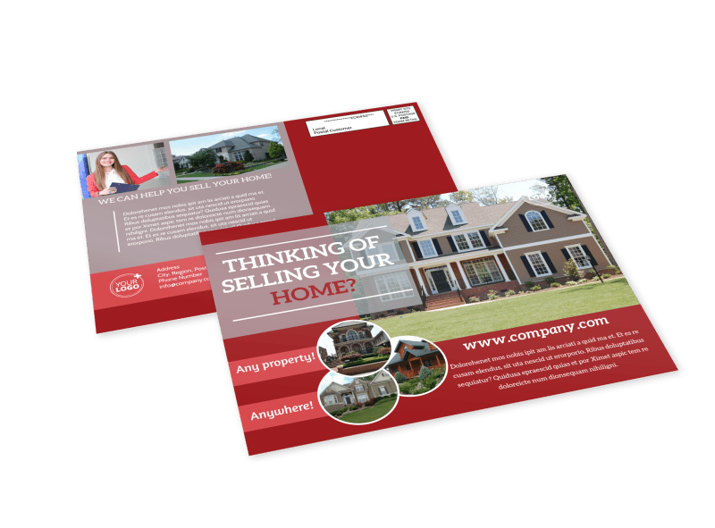 Real Estate Thinking Of Selling EDDM Postcard Template Preview 1