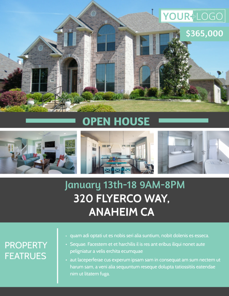 Anaheim Real Estate Open House Flyer Template Preview 2