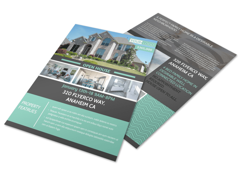 Anaheim Real Estate Open House Flyer Template Preview 1