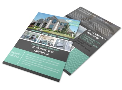 Anaheim Real Estate Open House Flyer Template preview