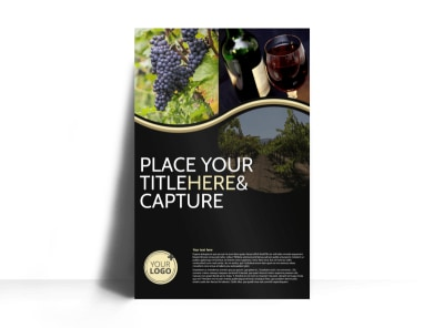 Winery & Wine Making Poster Template