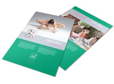 Pilates Class Flyer Template