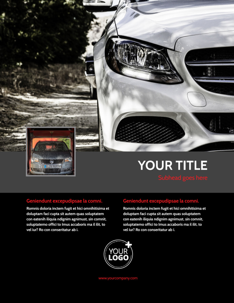 Professional Car Washing Flyer Template Preview 2