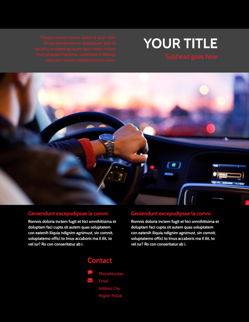Professional Car Washing Flyer Template Preview 3