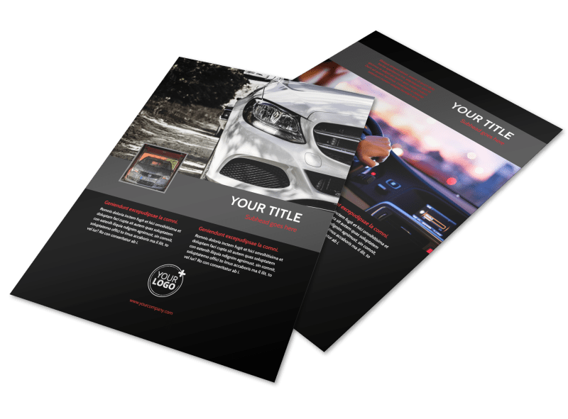 Professional Car Washing Flyer Template Preview 1