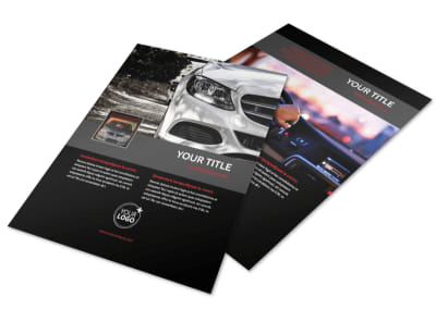 Professional Car Washing Flyer Template preview