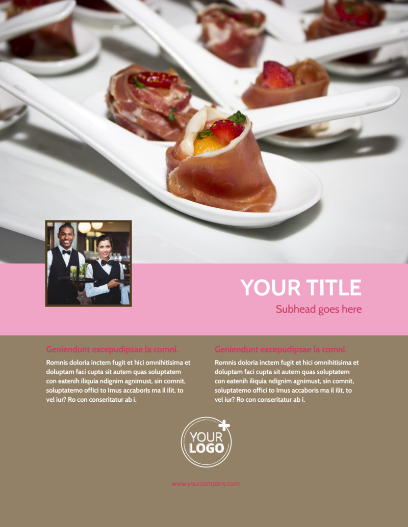 Event Catering Flyer Template Preview 2