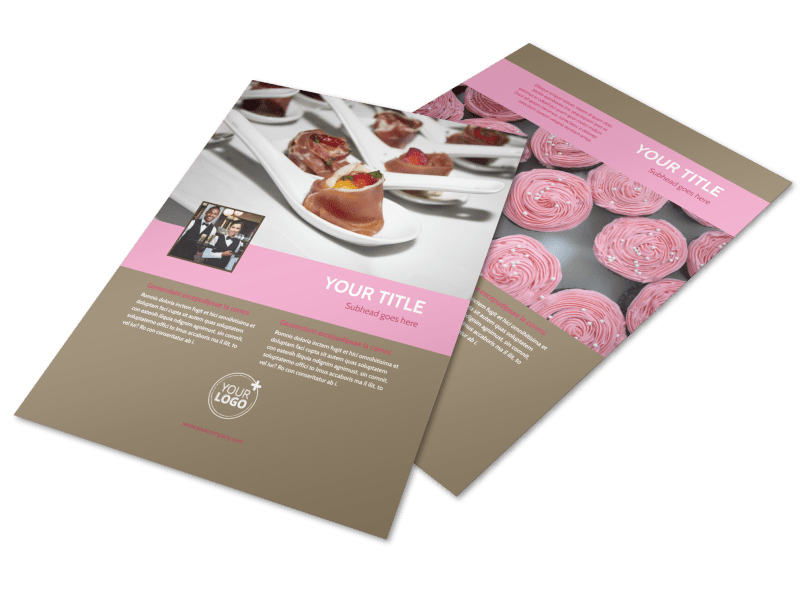 Event Catering Flyer Template Preview 1