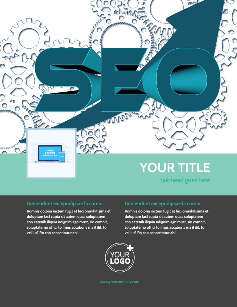 SEO Services Flyer Template Preview 2