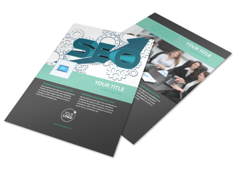 SEO Services Flyer Template Preview 1