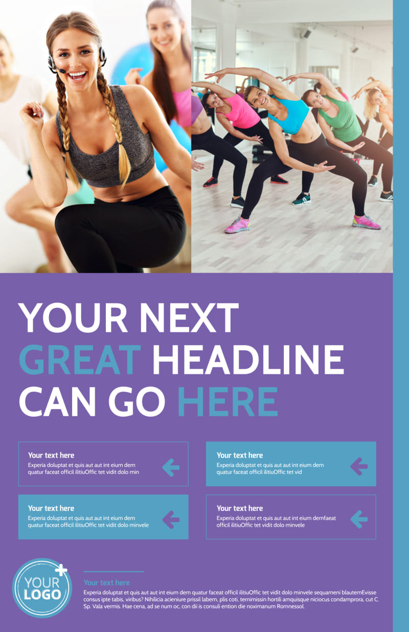 Aerobics Class Poster Template Preview 2