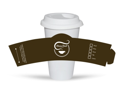 Rivers Bend Coffee Cup Sleeve Template preview